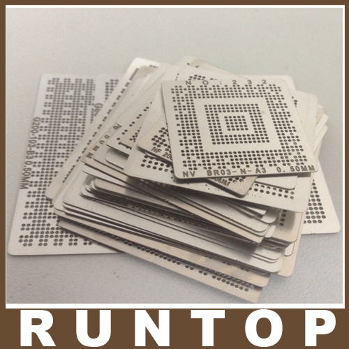 for Laptop Intel Chip 50 pcs /set  Bga Reballing Stencil Tample Kit 90mm reballing bga stencil kit for laptop nvidia chip gameconsole 34 pcs stencil 9 free gifts
