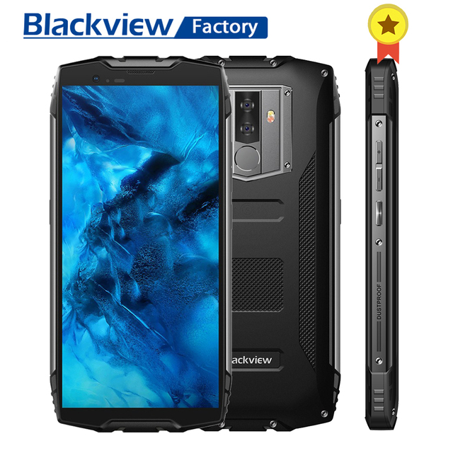"Blackview BV6800 Pro IP68 IP69K Face ID Smartphone 5.7""FHD 4GB+64GB 16.0MP Mobile Phone Octa Core Android 8.0 NFC 4G Cellphone"