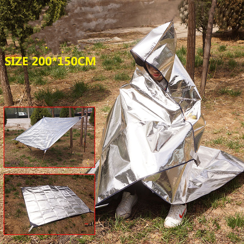 Image 5 - VILEAD 200*150 cm Camping Mat Insulating Mylar First Aid Blanket Outdoor Survival Waterproof Camping Mat for Tent Sun shelter-in Camping Mat from Sports & Entertainment