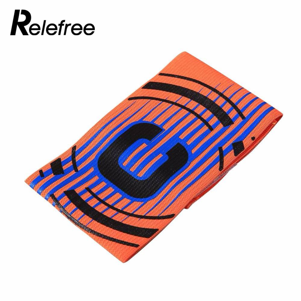 Relefree Professional Football Captain Armband Game Competition Soccer Arm Band Leader Multi Color High Quality