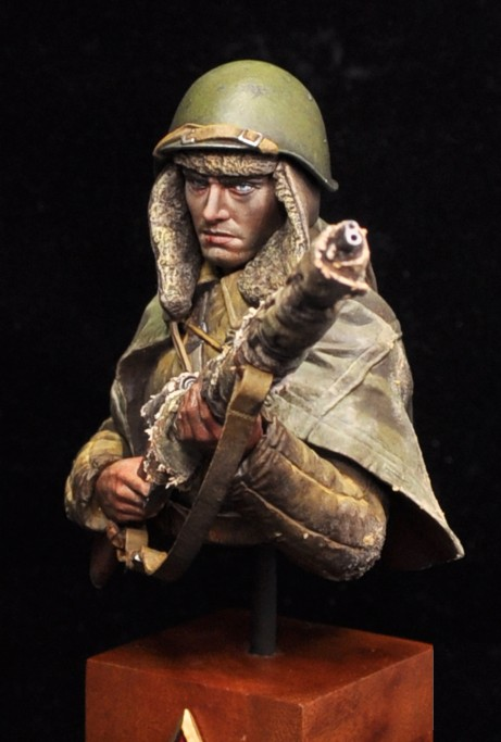 1/9 Resin Bust Model Kit WWII Soviet Sniper Vasily 200mm (Not Included The Base) 44