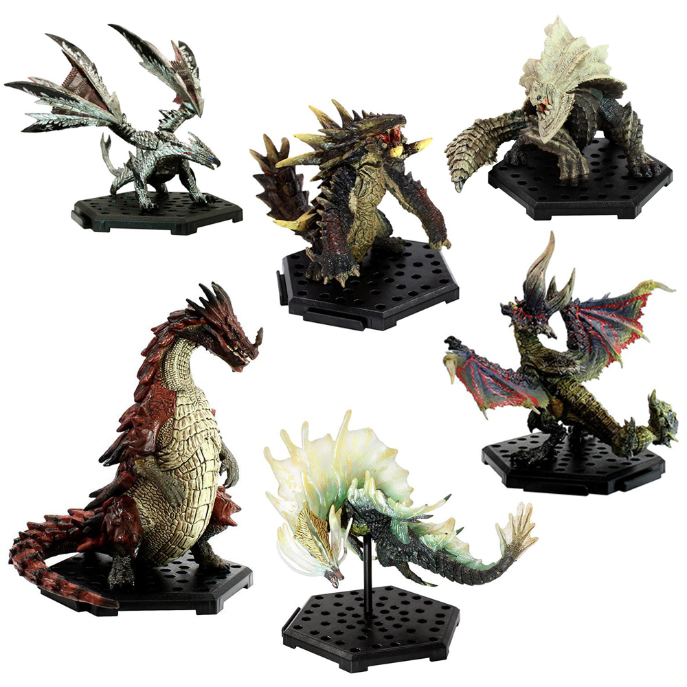 Monster Hunter World Plus Vol.7 6PCS Different Style Japanese Anime PVC Models Ancient Dragon Action Figure Collect toys
