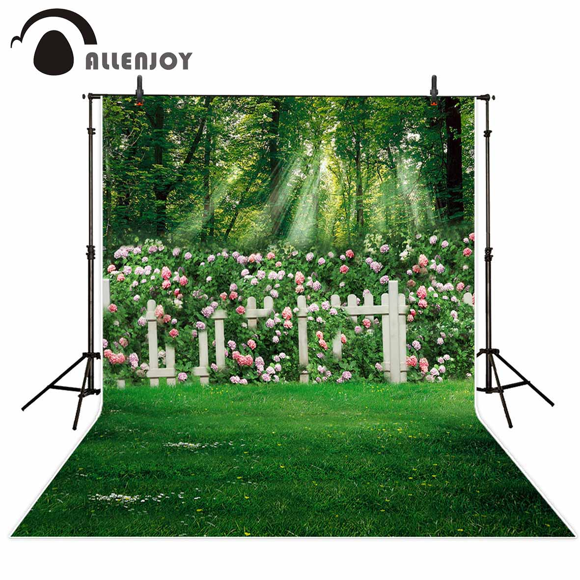 Allenjoy photography backdrop spring tree flower wedding sunshine background newborn photocall photobooth photo prop allenjoy photography backdrop flower door wedding children painting colorful background photo studio photocall photo shoot