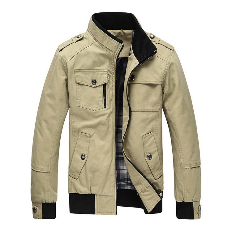 DIMUSI Autumn & Winter Men's Cotton Jackets Stand Collar ...