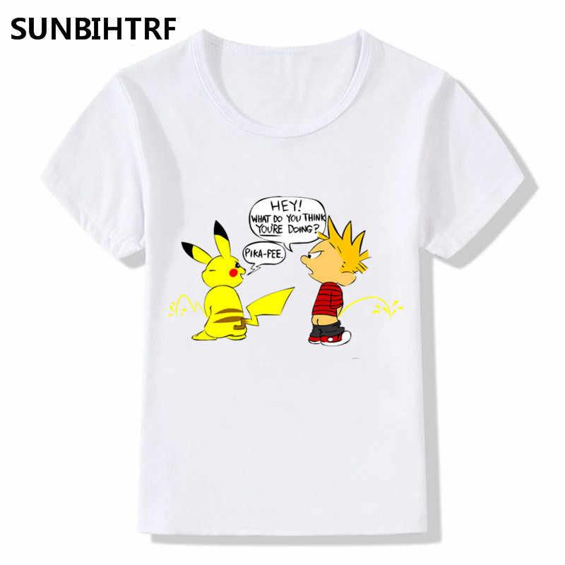 e6902357e ... 2018 Pirate Captain Pikachu Print Funny T-Shirts Summer Tops Short  Sleeve Big Boys/ ...