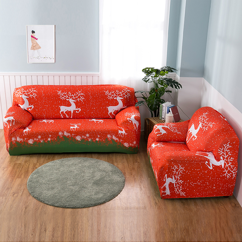 Merry Christmas Decoration Sofa Couch Cover Elastic For