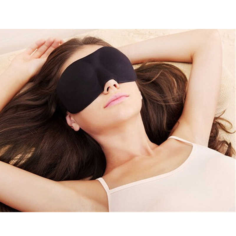 1 ピース 3D 睡眠マスク自然睡眠アイアイシェードカバシェードアイパッチ女性男性ソフトポータブル目隠し旅行眼帯