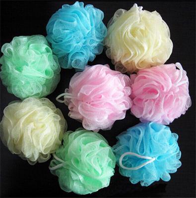 Neuen Stil Mehrfarbigen bad ball Schrubben Band Peeling Puff Schwamm Luffa Blume Spitze Ball ball bad handtuch wäscher Körper reinigung