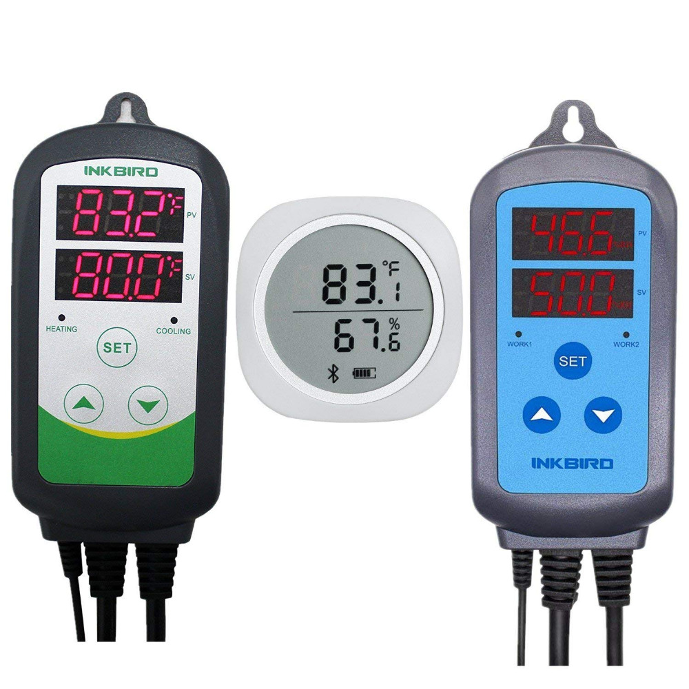 Combo Bluetooth Wireless Magnetic Monitor Smart Sensor Data Logger + Temperature Humidity Controller Thermostat Weather Station