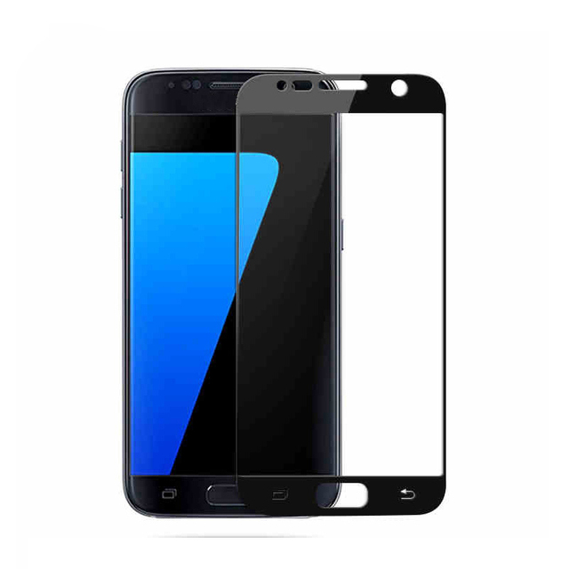 45b41f94084 Black White Gold 9H HD 2.5D Premium full Cover front tempered glass screen  protector film For Samsung Galaxy S5 S6 5.1