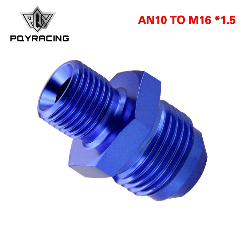 PQY - Male 10AN 10 AN Flare To M16x1.5(mm) Metric Straight Fitting AN 10To M16 *1.5 Port Adapter PQY-SL816-10-163-011