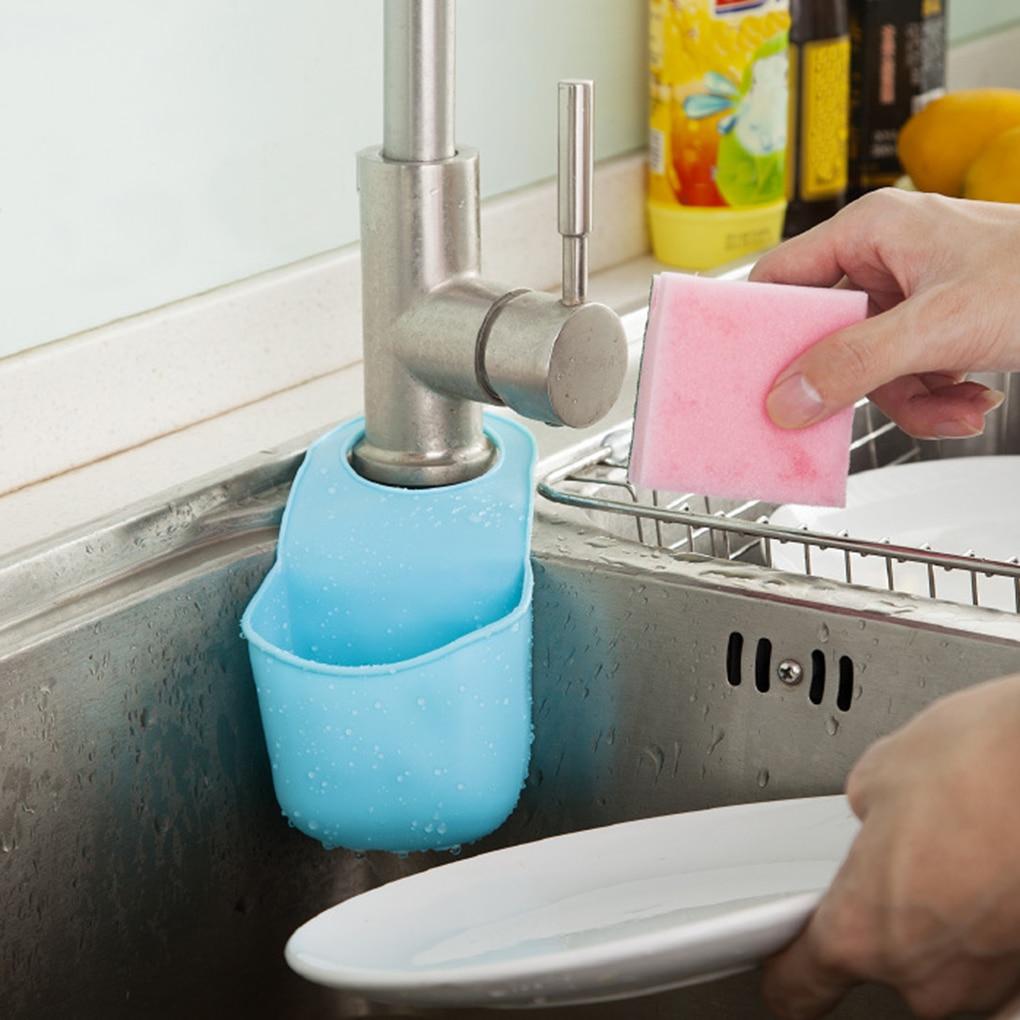 Kitchen Bathroom Sink Hanging Storage Bag Rack Holder, Cartoon Soap ...
