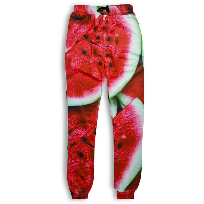 Fashion Men/women Casual Fitness Legging Trousers Harajuku watermelon Food 3D Print Sweat Harem Pants Hip Hop Joggers Sweatpants