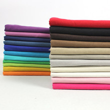 3Meter/Lot 140CM Thin Summer Hemp Cotton Polyester Solid Color Fabric Material Textile For Sewing Dress Cloth Curtain Patchwork