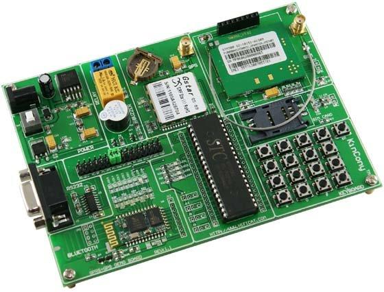 Bluetooth GPS GPRS MCU Совет по развитию комплект отслеживания местоположения Google карте
