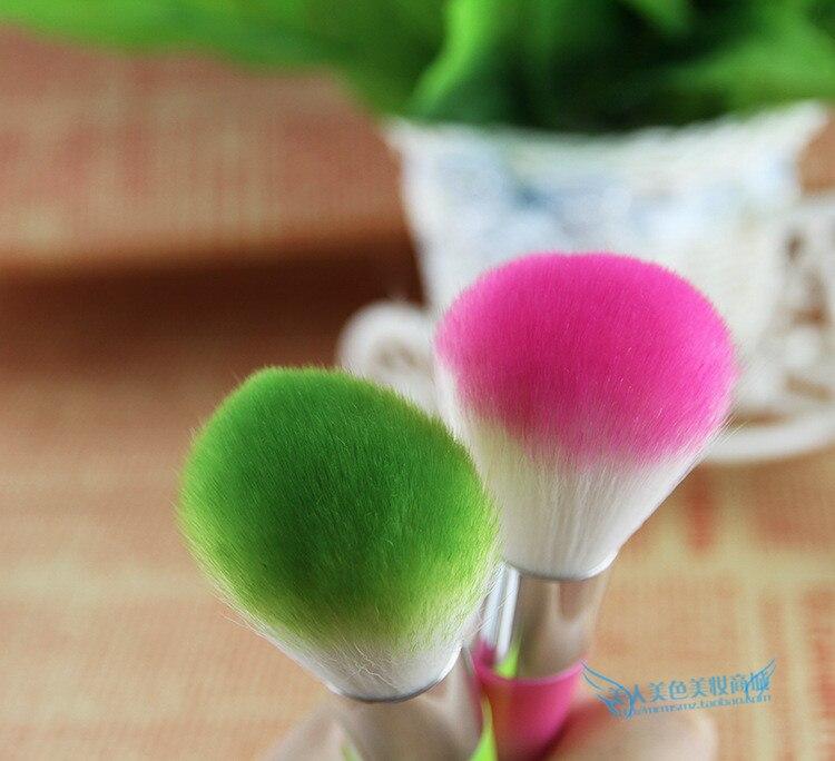 1 unids colorido encantador Nail Brush Cleaner cepillos del arte del clavo del c