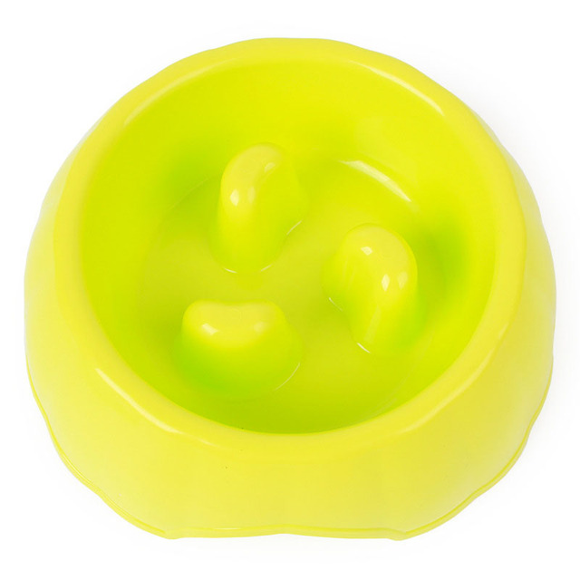 1pc Candy Color Pet Dog Bowl Anti Choke Funny Dog Slow Feeder Bowl Diameter 18/21cm
