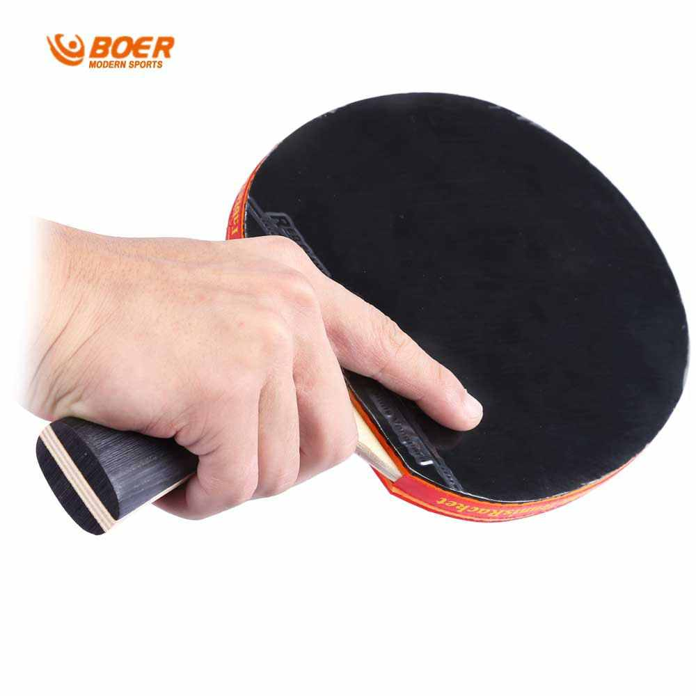 Table Tennis Rackets High Quality Pimples-in Rubber Bat Heavy Tip Light Handle For Fast Attack Type Player Table Tennis Rackets