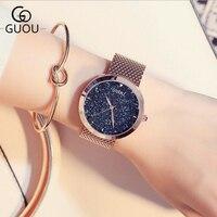 GUOU Luxury Shiny Diamond Wrist Watch Women Watches Rose Gold Women S Watches Ladies Watch Clock