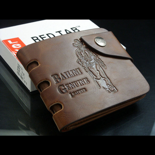 50pcs/lot+2016 fashion Mens Wallet+ Men Purse + Men rfid card leather wallet+ Genuine leather+ wholesale W-B7