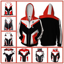 Marvel Os Vingadores 4 Endgame Reino Quântico Hoodies Homens Capuz Zipper Jaqueta de Moletom Cosplay Outfit Final Do Jogo Super Herói(China)