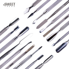 1pc Stainless Steel Nail Art Double Sided Cuticle Finger Dead Skin Cut Remover Pusher Manicure Pedicure Nail Care Tools LA1-9(China)