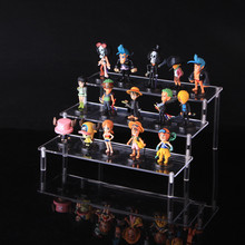 Free shipping acrylic Action Figure stand Robot Toys naruto Cartoon character ladder frame holder toy car model display rack