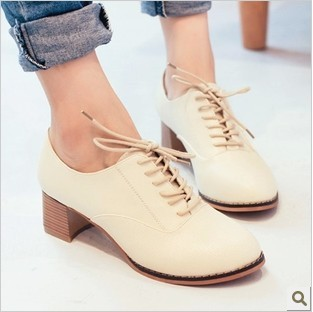 Zapatos beige vintage para mujer j1In66zOi