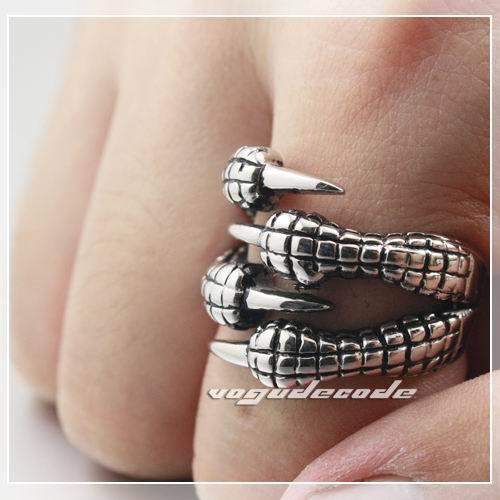 Крутой дракон коготь 316L нержавеющая сталь мужское кольцо X025
