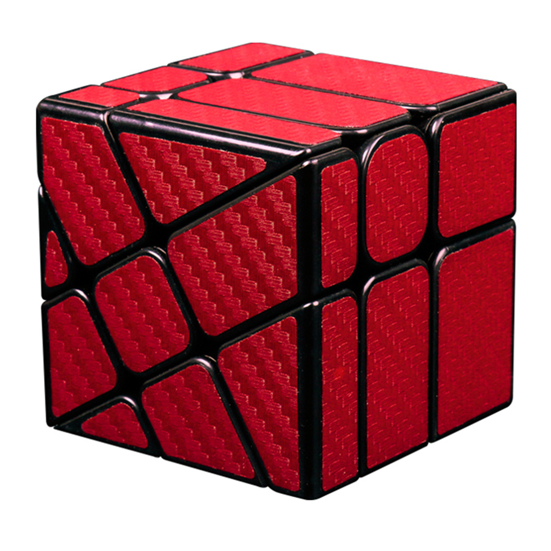 MF8830 Cubing Classroom Carbon Fiber Cube Hotwheel Funny Twisted Magic Cube Puzzle Toy for Challange - Red luxury star crystal rhinestone lapel pins and brooches for women large mother of pearl suit broches bridal wedding jewelry x012