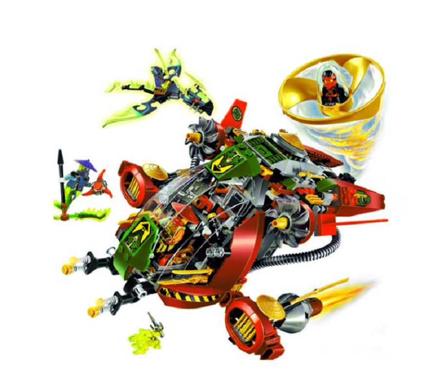 BELA 10398 Compatible with legoings Ninjagoingly Ronin R.E.X 70735 Building Block Model Educational Toys For Children