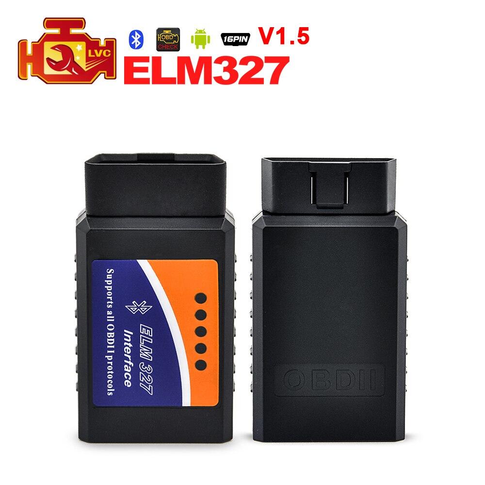 Prix pour Universal ELM327 V1.5 Bluetooth OBD2 Code Lecteur Adaptateur pour Android couple v 1.5 super mini Elm 327 OBDII auto diagnostic outil