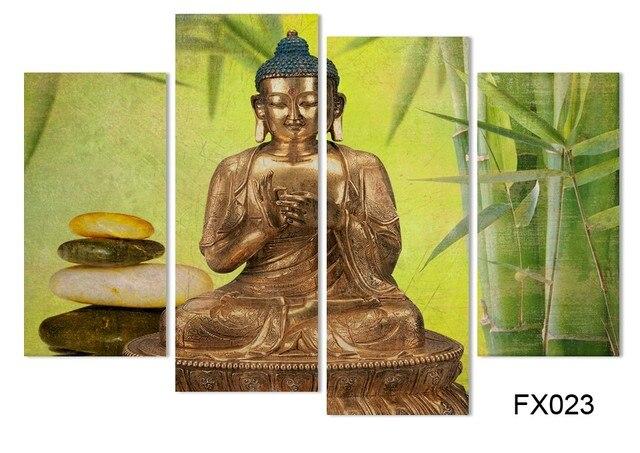 Buddha portrait canvas 4Pcs unframed wall print picture HD printing ...