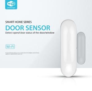 Image 2 - Tuya smart Wifi Door Window Sensor App Notification Alerts No Hub Required Tuya Smart Home security System Phone Alarm
