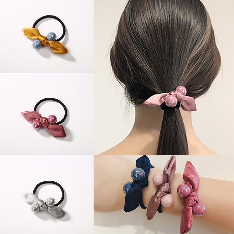Korea Handmade Wool Cherry Rubber Hair Band Hair Accessories Headwear Girls Elastic Headband For Women Hair Bows 5 Girl's Hair Accessories Girl's Accessories