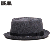 Brands NUZADA England Retro Men Couple Women Fedoras Top Jazz Hat Spring Summer Autumn Bowler Hats Cap Classic Version cheap Adult Unisex yl-001 Acrylic Cotton Casual Plaid 56CM The size can not be adjusted