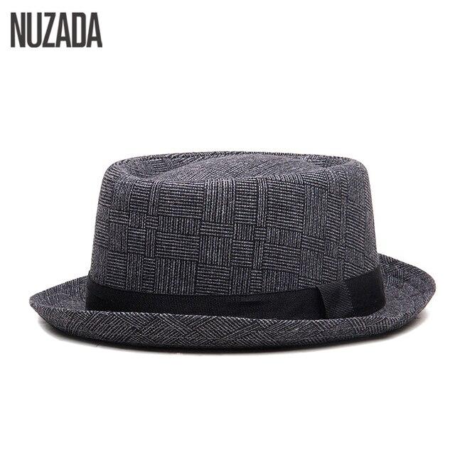 Marcas NUZADA Inglaterra Retro hombres pareja mujeres Fedoras Top Jazz  sombrero Primavera Verano otoño gorra versión e30799f1a8c