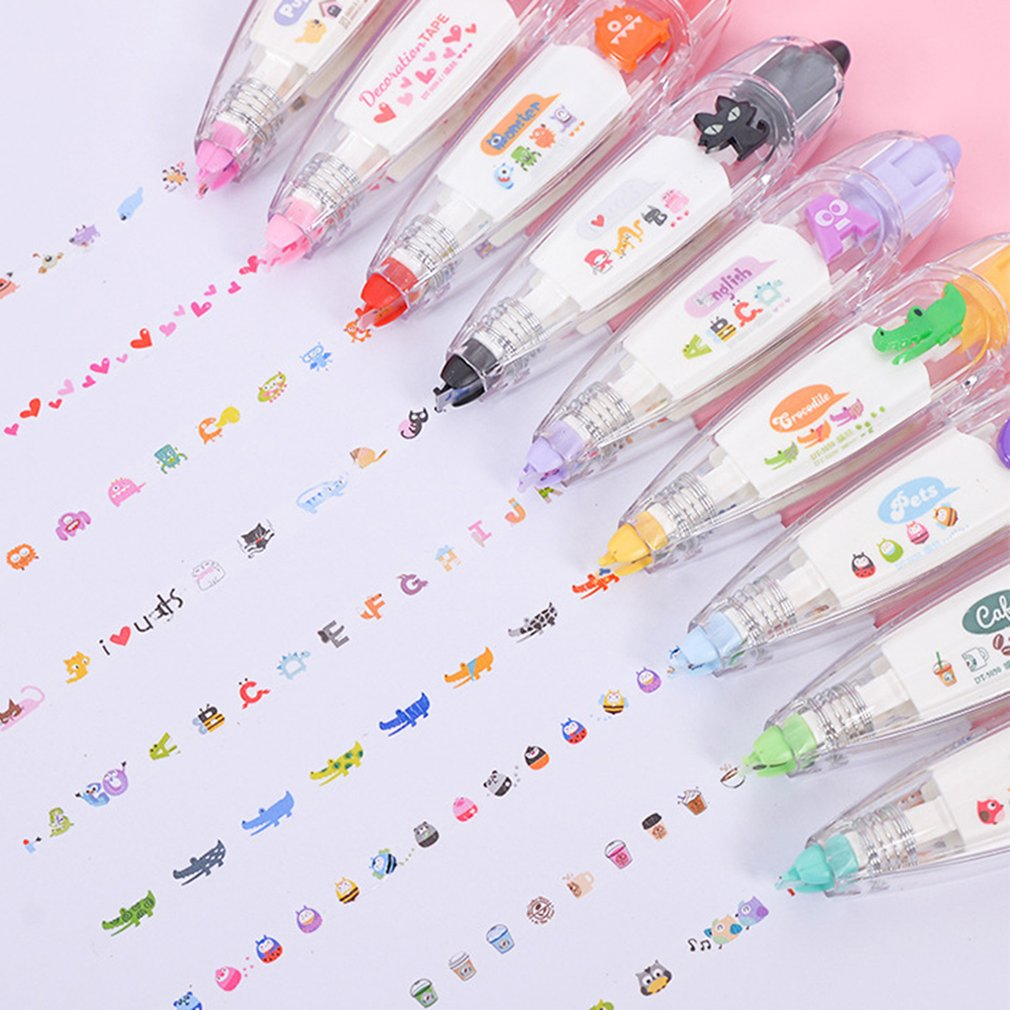 Creative Decorative Stationery Push Correction Tape Lace For Key Tags Student School Supplies Convenient