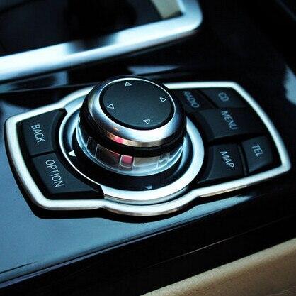 Botones multimedia reacondicionamiento Interior Accesorios Cubierta Del Coche Para BMW X3 X1 X5 X6 F01 F20