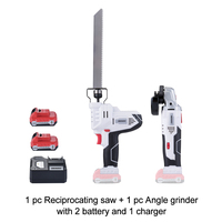 KEINSO 12V Hand Reciprocating Saw and Power Angle Grinder set Ideal for DIY Cutting Wood or Wood Working Polish Plate
