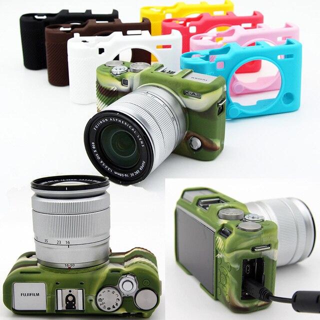 New Silicone Camera Video Bag Case PVC For Fuji Fujifilm XA3 XA 3