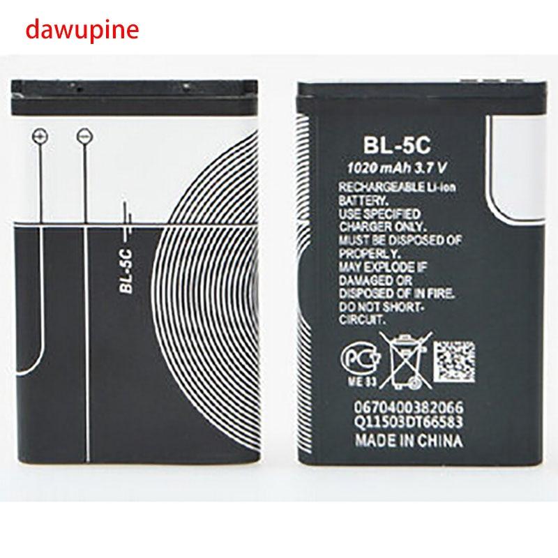 dawupine BL-5c full capacity 1020 mah 3.7V lithium battery card speakers navigation small stereo radio phone cells