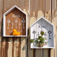 Storage Boxes Wall Hook Hanger Wood Storage Holder Flower Pots Key Holder Storage Box Wooden Sundries Hang Wood Boxes(China)