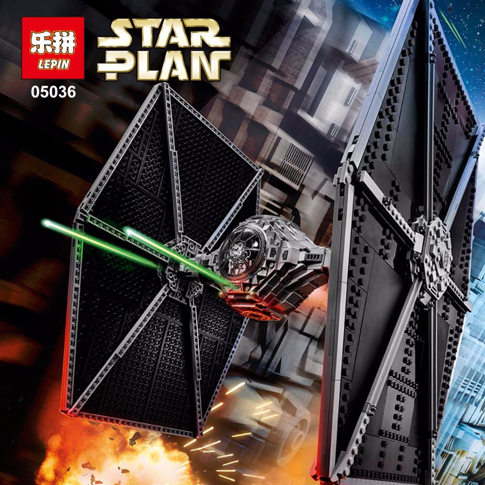 1685Pcs LEPIN 05036 Star Series plan legoinglys Tie Model Fighter Set Building blocks Bricks Classic Compatible 75095 Boys Gift new 1685pcs lepin 05036 1685pcs star series tie building fighter educational blocks bricks toys compatible with 75095 wars
