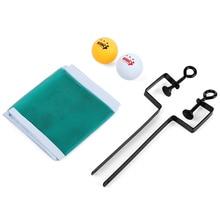 Настольный теннис пинг-понг Мячи портативный набор чистая фиксация оборудования 2 мяча 1 сетка 2 чистая стойка Прямая поставка