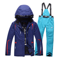 Sportswear Winter Europe And The United States Veneer Double Board Ski Windproof Waterproof Keep Warm Thicker