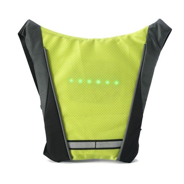 Светоотражающий жилет безопасности Открытый водонепроницаемый 30 шт. светодиодный Предупреждение сигнал безопасности беспроводной пульт ...