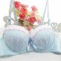 Reúna encaje hot sexy bra establece push up sistema atractivo del sujetador push up mujeres la ropa interior sexy sujetador abierto sin bragas 32 34 36 A tamaño AA