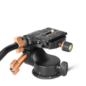 Image 4 - SOONPH Q08S אלומיניום 3 דרך נוזל ראש זרוע נדנדה וידאו חצובה כדור ראש עבור Canon ניקון Sony Fujifilm DSLR מצלמה חצובה חדרגל