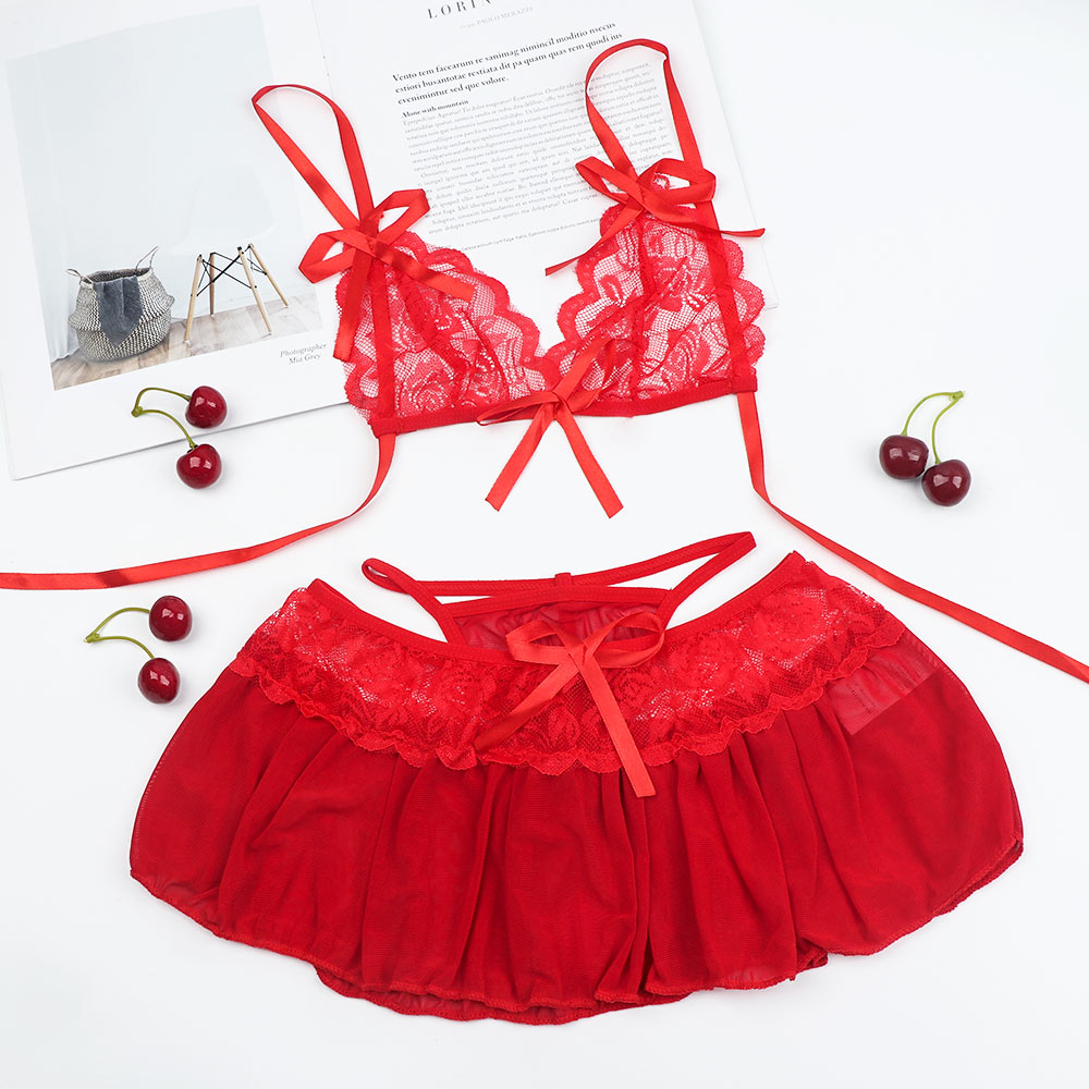 <font><b>1</b></font> <font><b>Set</b></font> <font><b>Sexy</b></font> <font><b>Lingerie</b></font> <font><b>Dress</b></font> <font><b>Underwear</b></font> <font><b>Lace</b></font> Exotic <font><b>Lingerie</b></font> with G-string <font><b>Sexy</b></font> Women Novelty Costumes as Gifts For Women <font><b>Hot</b></font> Sale image